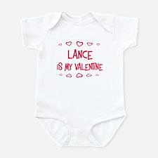 Lance is my valentine Infant Bodysuit