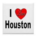 I Love Houston Tile Coaster