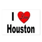 I Love Houston Postcards (Package of 8)