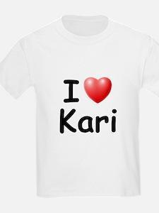 I Love Kari (Black) T-Shirt