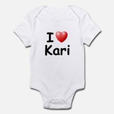 I Love Kari (Black) Infant Bodysuit