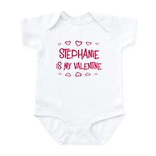 Stephanie is my valentine Infant Bodysuit
