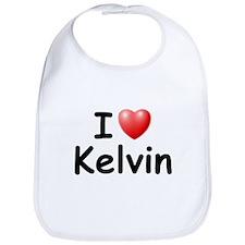 I Love Kelvin (Black) Bib