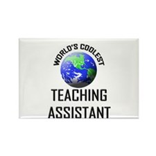 World's Coolest TEACHING ASSISTANT Rectangle Magne