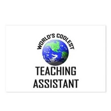 World's Coolest TEACHING ASSISTANT Postcards (Pack