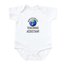 World's Coolest TEACHING ASSISTANT Infant Bodysuit
