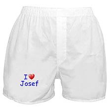 I Love Josef (Blue) Boxer Shorts