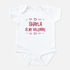 Shayla is my valentine Infant Bodysuit