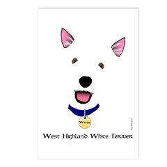 Happy Westie Postcards (Package of 8)