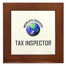 World's Coolest TAX INSPECTOR Framed Tile