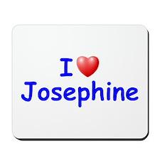 I Love Josephine (Blue) Mousepad