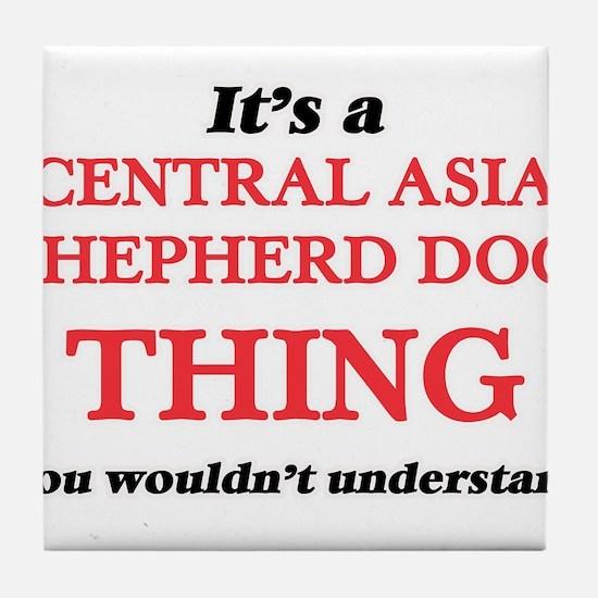 It's a Central Asia Shepherd Dog Tile Coaster