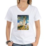 Umbrella / Ger SH Pointer Women's V-Neck T-Shirt