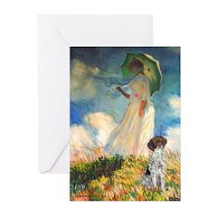 Umbrella / Ger SH Pointer Greeting Cards (Pk of 20