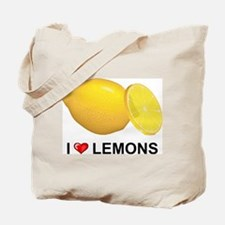 I Love Lemons Tote Bag