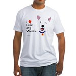 Westie Love Fitted T-Shirt