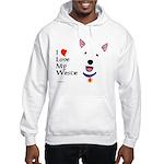 Westie Love Hooded Sweatshirt