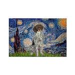 Starry Night /German Short Rectangle Magnet (10 pa