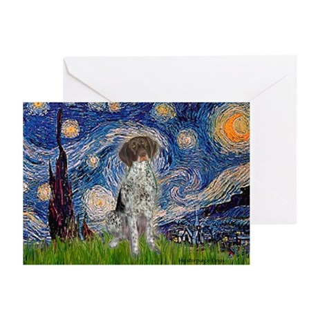 Starry Night /German Short Greeting Cards (Pk of 1
