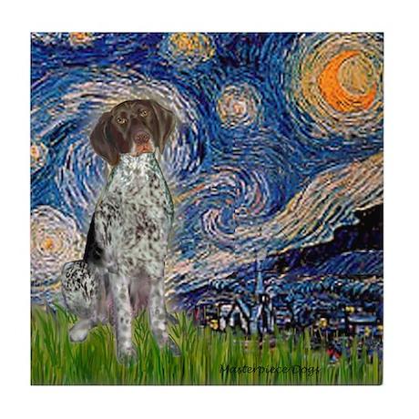 Starry Night /German Short Tile Coaster