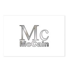 Silver Mc for John McCain Postcards (Package of 8)
