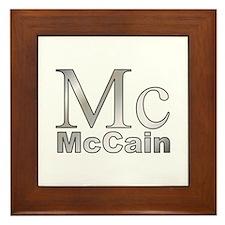 Silver Mc for John McCain Framed Tile