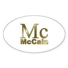 Gold Mc for John McCain Oval Decal