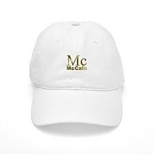 Gold Mc for John McCain Baseball Cap