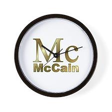 Gold Mc for John McCain Wall Clock