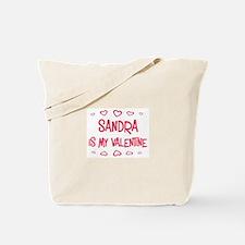 Sandra is my valentine Tote Bag