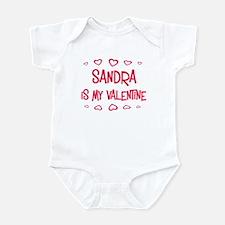 Sandra is my valentine Infant Bodysuit