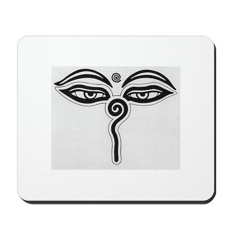 Buddha Eyes Mousepad