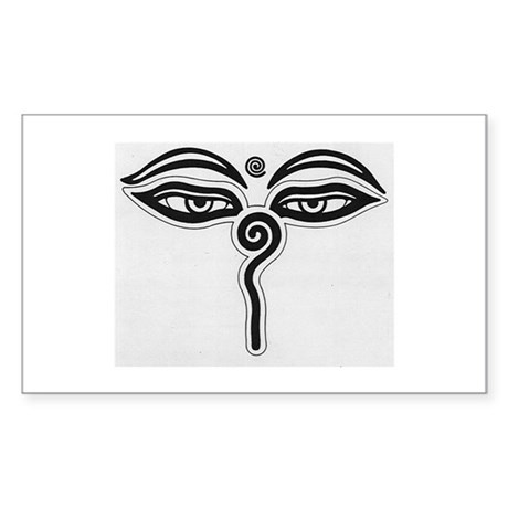 Buddha Eyes Rectangle Sticker