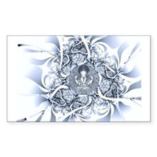 Lotus Buddha Rectangle Decal