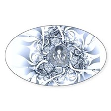 Lotus Buddha Oval Decal