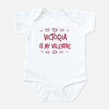 Victoria is my valentine Infant Bodysuit