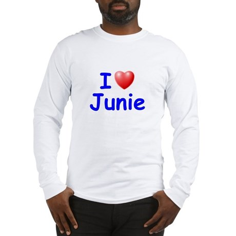 I Love Junie (Blue) Long Sleeve T-Shirt