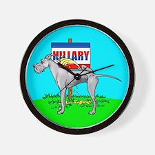 Blue Dane Pi$$ on Hillary Wall Clock