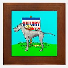 Blue Dane Pi$$ on Hillary Framed Tile