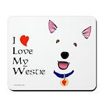 Westie Love Mousepad