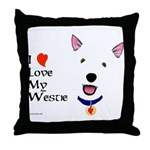 Westie Love Throw Pillow