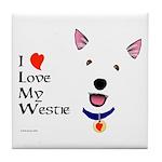 Westie Love Tile Coaster