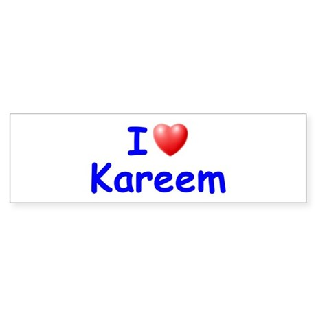 I Love Kareem (Blue) Bumper Sticker