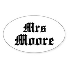 Mrs Moore Oval Bumper Stickers