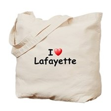 I Love Lafayette (Black) Tote Bag