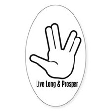 Live Long & Prosper - 2 Oval Decal