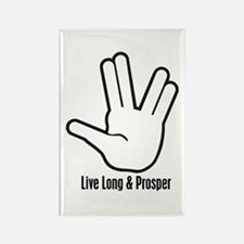 Live Long & Prosper - 2 Rectangle Magnet