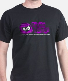 Purple Helmet logo for dark T-Shirt