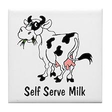 Self Serve Milk Tile Coaster