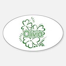 Olivia Oval Decal